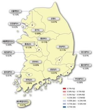 공시가격 상승 에 서울 아파트값 19주 연속 하락