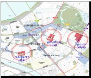 지하철 석촌고분·송파나루·방이역 역세권 개발 활성화