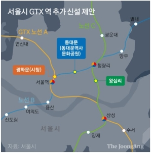 """서울시 'GTX 3개역 추가' 건의에 정부 """"재정 더 투입 못해"""""""