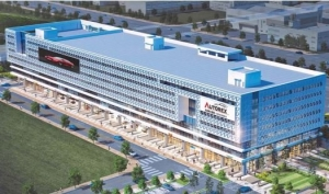 첨단 시설 갖춘 중고차 멀티 쇼핑몰…축구장 15개 규모 현대식 건물 외관